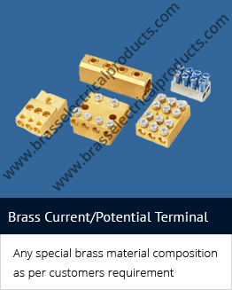 brass current terminal/Potential Terminal