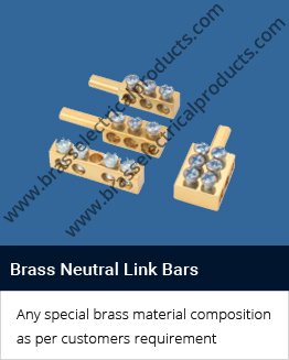 brass neutral Link bars